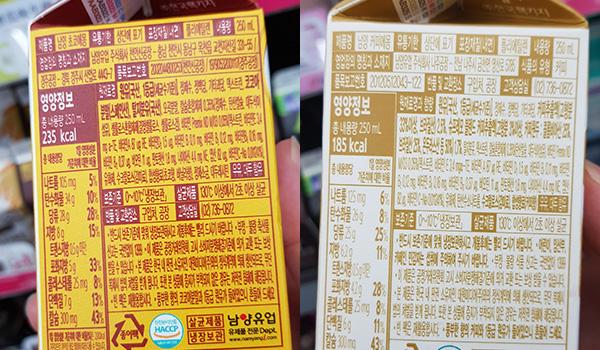 가공유 성분 함량 표시 '아리송'...초코우유 속 원유 함량도 '깜깜'
